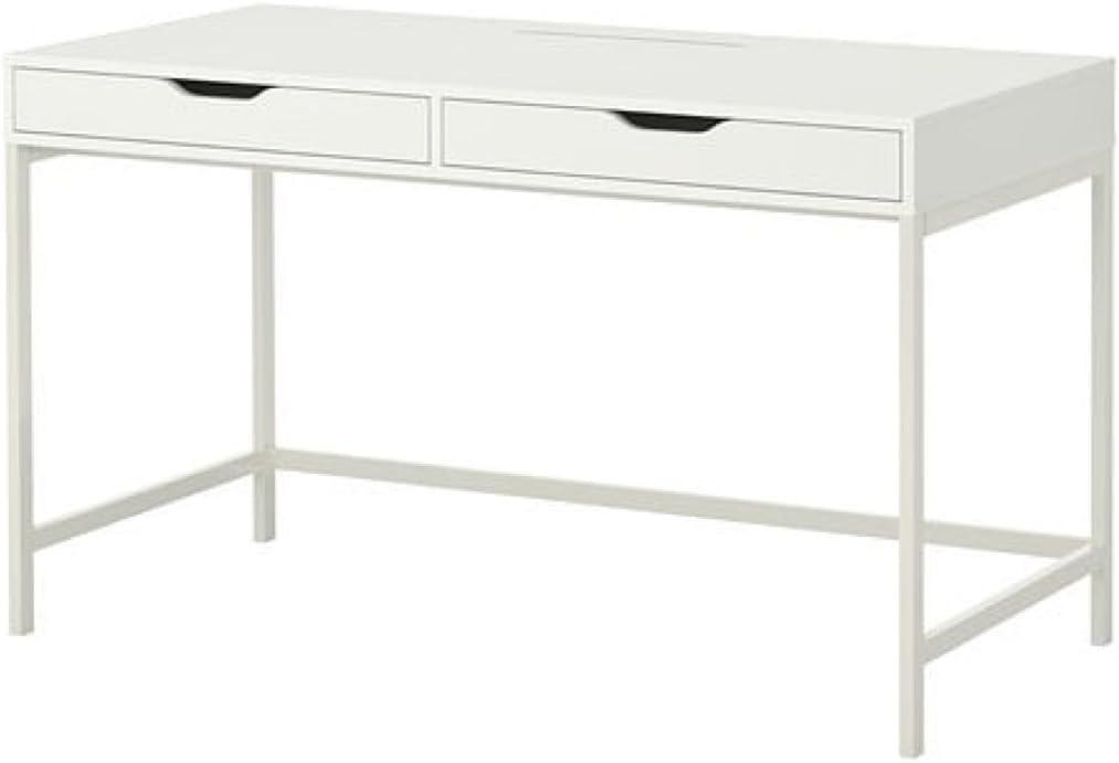 Ikea Alex Bureau D Ordinateur Avec Tiroirs Blanc Amazon Fr Fournitures De Bureau