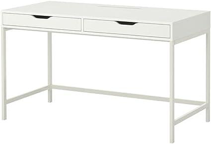 Cassettiera Per Scrivania Ikea.Ikea Alex Scrivania Con Cassetti Bianco Amazon It Cancelleria E