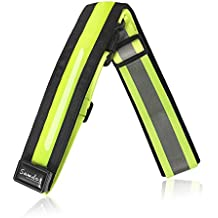Samdo USB Rechargeable - 2 in 1 Security LED Reflective Belt - Adjustable & High Visibility for jogger, Runner, Cyclist - Fits Adult, Children & Pet