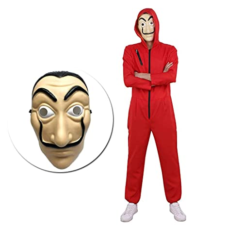Amycute 2 PCS Disfraz de Ladrón y Máscara, Salvador Dalí ...