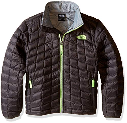 The North Face Kids Boy's Thermoball Full Zip Jacket (Little Kids/Big Kids Graphite Grey/Classic Green Large ()