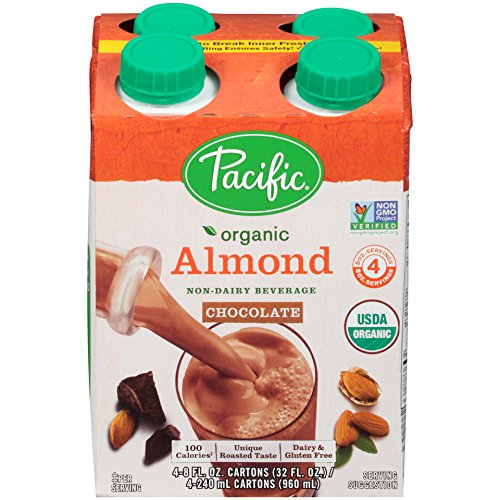 Pacific Beverages Naturally Almond Chocolate 4 pack, Gluten Free, 8-ounces (Pack of6) ()