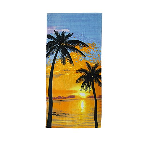 NobleHomeShop Palm Print Beach Towel -