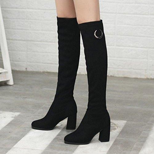 RAZAMAZA Women Stylish Long Boots Black-1 QiyQb
