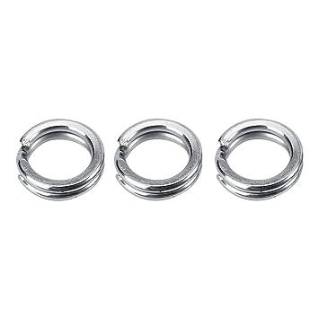 Split Ringe Edelstahl Angelger/ät K/öder Doppel Kreis Split Ring Connector 50//100 st/ücke
