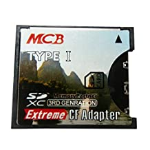 MCB SD to CF Card Type I High Speed SDXC SDHC SD to CF Compact Flash Memory Card Reader Adapter