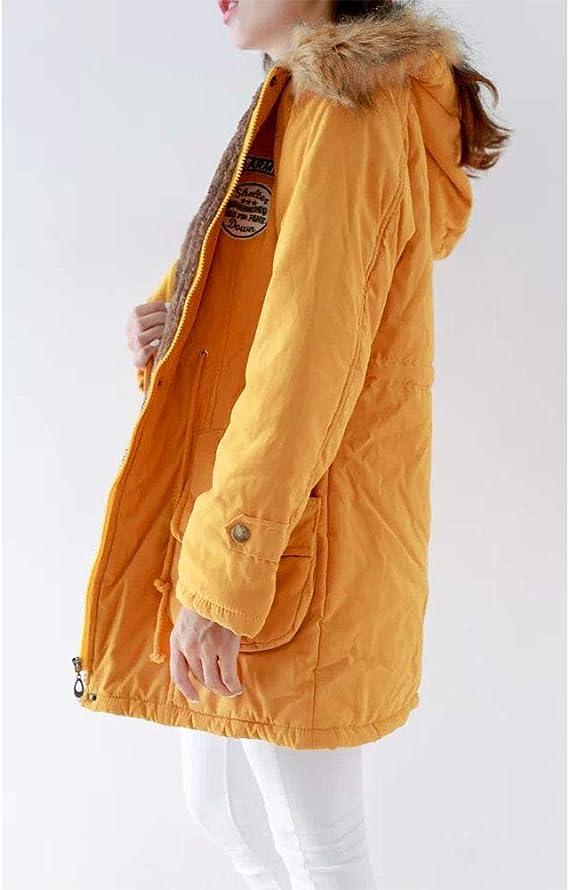 Xingsiyue Femme Manteau Hiver Manches Longues Chaud Fourrure avec Capuche Rembourr/ée Veste