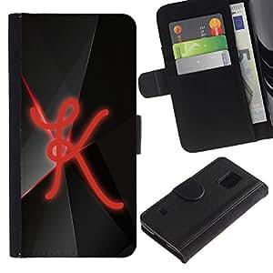 LASTONE PHONE CASE / Lujo Billetera de Cuero Caso del tirón Titular de la tarjeta Flip Carcasa Funda para Samsung Galaxy S5 V SM-G900 / K