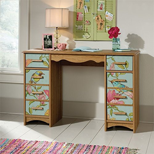 le Pedestal Desk in Scribed Oak (Eden Furniture)