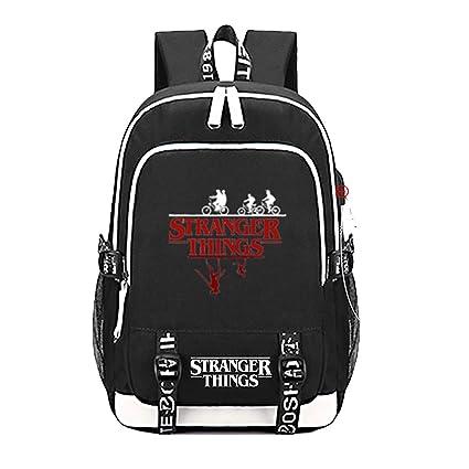 Mochila Stranger Things con Puerto de Carga USB Bolsa de ...