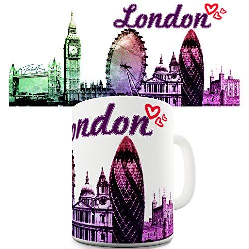 London Watercolour City Travel Tourist Souvenir Mug London Watercolour