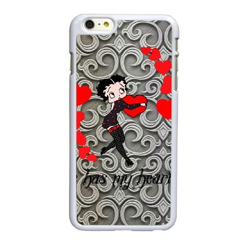 Betty Boop R1J35I7WW coque iPhone 6 6S Plus 5.5 Inch case coque white 2137P6