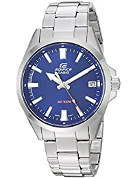 Men's Edifice Quartz Watch with Stainless-Steel Strap, Silver, 19.5 (Model: EFV-100D-2AVCR)