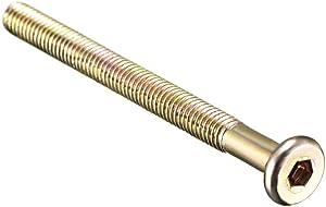 Lysee Bolts - 5pcs Hex Socket Drive Round Head Screw Carbon Steel Zinc Plated M6x95/70/80mm Furniture Bolts Nuts - (Dimensions: M6x70mm)