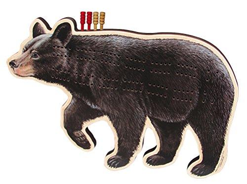 (Black Bear Cribbage Board - Fun Fish & Animal Shapes, Card Games)