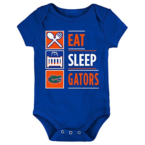 Outerstuff NCAA Florida Gators Newborn & Infant All I Do Short Sleeve Bodysuit, Royal, 3-6 Months