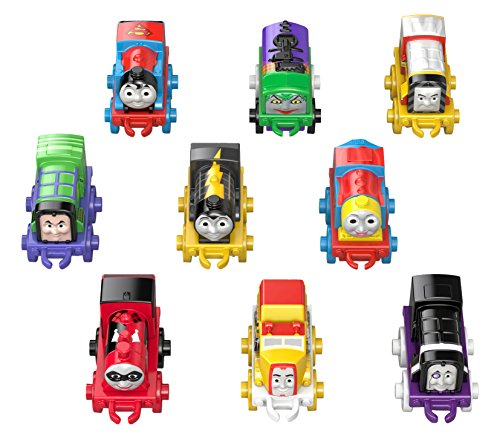 Fisher-Price Thomas & Friends MINIS DC Super Friends Mighty Mash-Up Trains, 9 Pack (Thomas Train Characters)