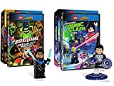LEGO Double DC Heroes: Justice League: Cosmic Clash Limited Boy Figure Super DVD Pack + Gotham City Breakout Exclusive Nightwing Character 2 Animated Double Feature