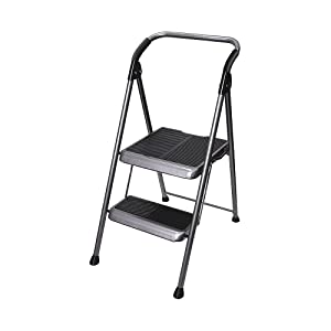 Werner, S322B-4, Household Step Stool, Steel, 44Inh, 250Lb