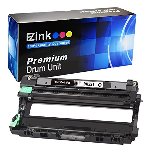 E-Z Ink (TM) Compatible Black Drum Unit Replacement For Brother DR221CL (1 Black Drum Unit) Compatible With HL-3140CW HL-3170CDW MFC-9130CW MFC-9330CDW MFC-9340CDW Laser Printer Black Drum Unit Cartridge