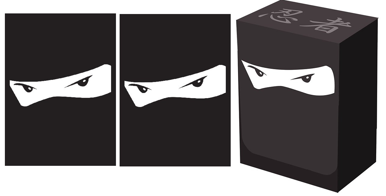 100 Legion NINJA Deck Protectors + Deck Box COMBO Set Legion Supplies GLOSS Sleeves 2-Packs - Standard Magic the Gathering Size