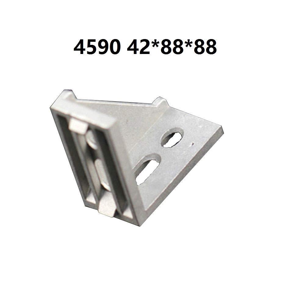 1Pcs 4590 42x88x88mm European Corner Fitting Angle Aluminum 45 X 90 L Connector Bracket Fastener Industrial Aluminum Profile