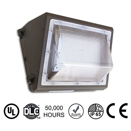 80W LED Wall Pack Light 5000K Commercial Fixture, 400W-600W HPS-HID Replacement/Retrofit, 9885 Lumens Natural White! IP65 Waterproof Indoor/Outdoor Rated, DLC 4.0, UL, Built-In Level/Pre-Spotted Holes (Commercial Led Wall Pack compare prices)