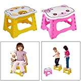 Kids Step Stool 9 inch width by 8 inch tall, Fold
