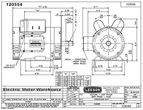 2 Hp Leeson Motor Wiring Diagram
