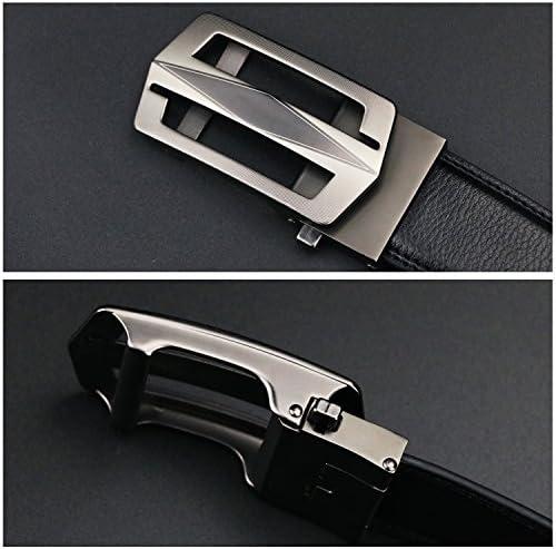 [マイクイーン]maikun ベルト メンズ ビジネス おおきいサイズ メンズベルト ゴルフ 紳士ベルト 革ベルト belt オートロック 穴なし 130cm