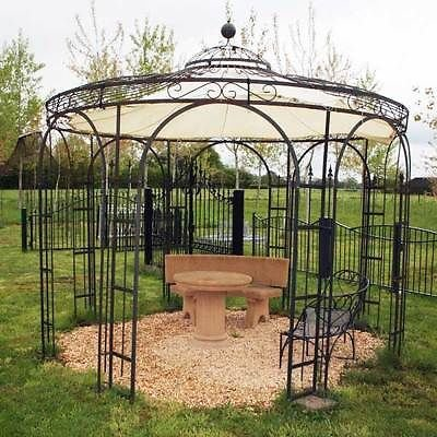 gartenpavillon metallpavillon eisen pavillon rankpavillon pavillon stabil holland 260 cm. Black Bedroom Furniture Sets. Home Design Ideas