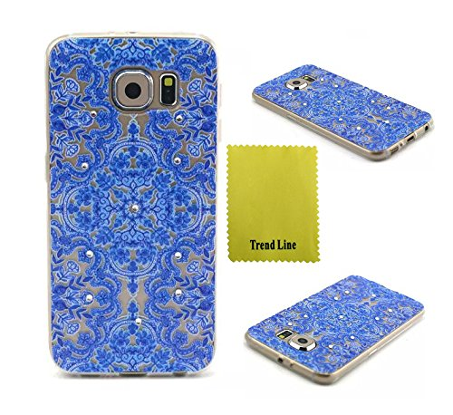 Best Deals! Samsung Galaxy S6 Case ,Trend Relief Flower Printed Design TPU Gel Skin Silicone Case So...