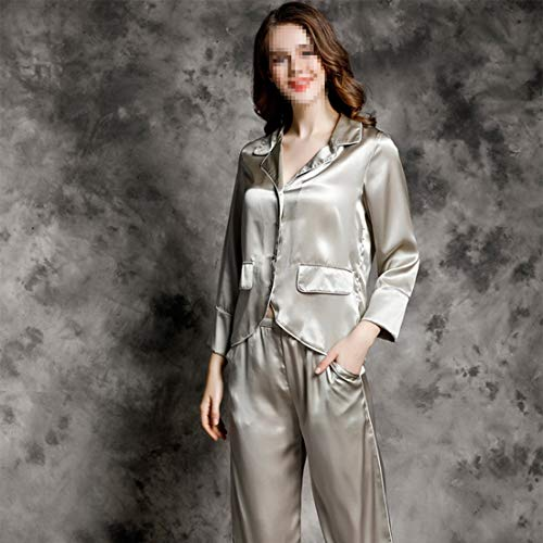 L Conjunto Pijama 02 Sintética Limeinimukete xxl Camisón Mujer X Larga Seda 04 Suave Manga De large Swwzpxfq
