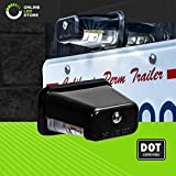 Stud-Mount LED Trailer License Plate Lights [DOT/SAE Certified] [IP67 Waterproof Rated] [Ultra-Durable] License Tags for Trailers, RVs, Trucks & Boats - Black Housing