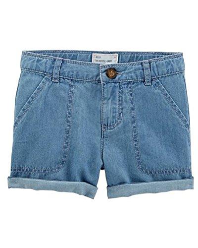 Carter's Baby Girls Denim Roll-Cuff Shorts (24 Months) ()