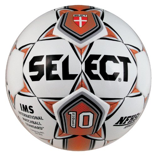 Select Sport America Numero 10 Soccer Ball, 5, White/Orange