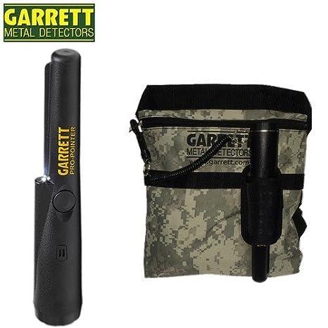 Garrett-Detector De metales Propointer para encontrar las metas-Funda De puerto en el cinturón incluye bolsa, diseño De camuflaje con cordón De seguridad.