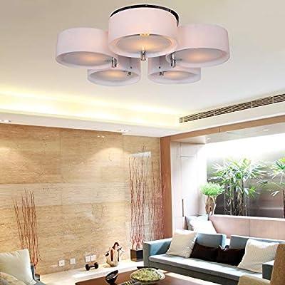 Homelava Lámpara de techo con 5 Luces Techo luz E27 Diámetro de 76 ...