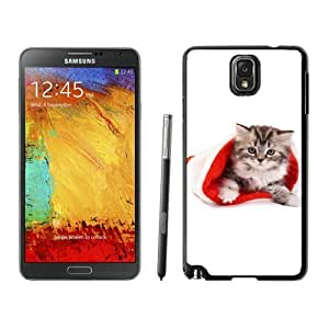 Personalized Hard Shell Christmas Cat Black Samsung Galaxy Note 3 Case 9