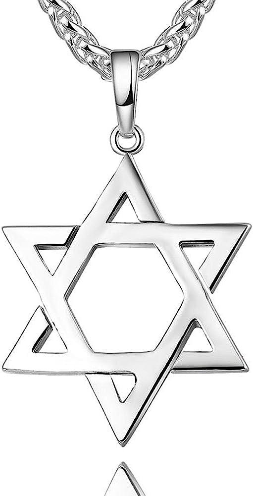 TTVOVO 18K Gold/Black Gun/Platinum/925 Sterling Silver Plated Megan Star of David/African Map Pendant Necklaces for Women/Men Hip Hop Jewelry