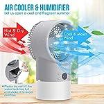 RenFox-Raffreddatore-dAria-Portatile-Mini-Ventilatore-da-Tavolo-umidificatore-evaporativo-Regolabile-per-unita-di-Raffreddamento-Personale-per-Ufficio-da-Viaggio-Timer-Luce-Notturna-con-7-Colori