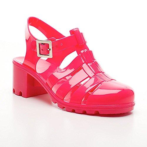 Footwear Sensation - Sandalias de vestir para niña Rosa - fucsia
