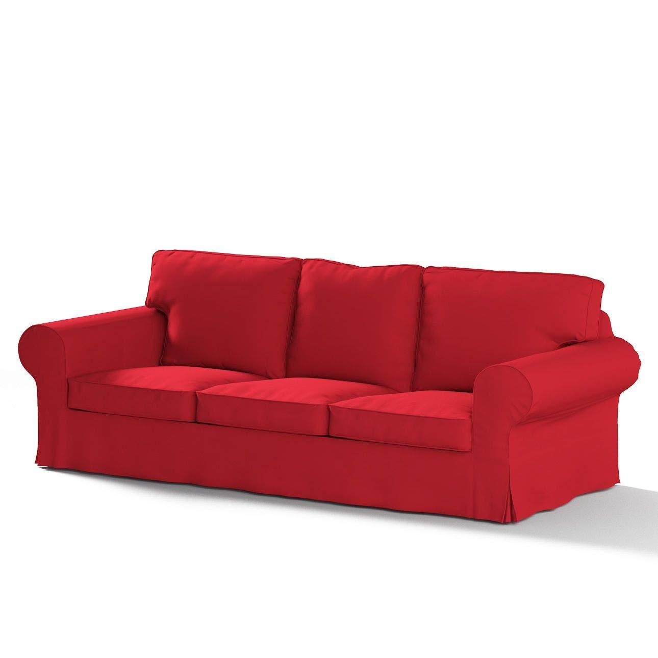 FRANC-TEXTIL 610-702-04 Ektorp 3-Sitzer Sofabezug Nicht ausklappbar, Cotton Panama, rot