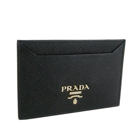 プラダ PRADA レディース カードケース SAFFIANO METAL 1MC208 QWA F0002 NERO ブラック [並行輸入品]  ブラック B07D3P6P6X