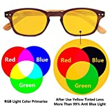 Bamboo-Look Arms Blue Light Filter UV Protection