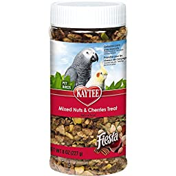 Kaytee Fiesta Mixed Nuts and Cherries Treat for Pet Birds, 8-oz jar