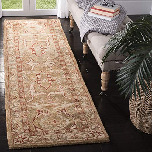 Safavieh Anatolia Collection AN515A Handmade Traditional Oriental Straw and Ivory Wool Runner (2'3
