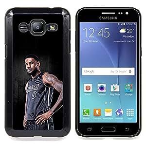 "Qstar Arte & diseño plástico duro Fundas Cover Cubre Hard Case Cover para Samsung Galaxy J2 / J200 (Miami 6 Baloncesto"")"