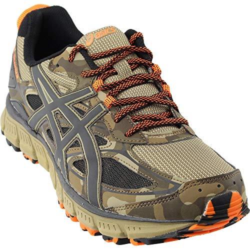 ASICS Men's Gel-Scram 3 Trail Runner, Light Brown/Black/Hot Orange, 12.5 M US