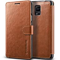 Galaxy Note 4 Case, Verus [Layered Dandy][Coffee Brown] – [Premium Leather Wallet][Slim Fit][Card...